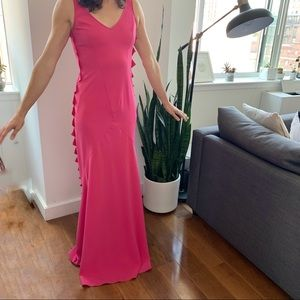 MOSCHINO CHEAPANDCHIC Pink Triangle Cut Out Dress